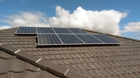 2kW solar install on a decramastic roof
