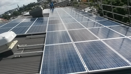 Commercial solar Commercial Solar Installation in progress