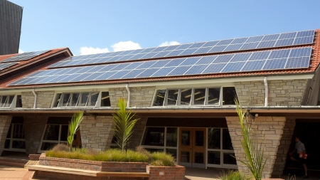 School solar installation