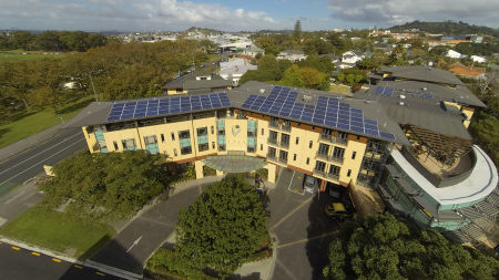 Domain Lodge Solar installation