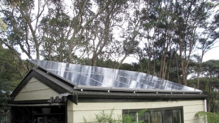 Innovative Solar install on shed roof