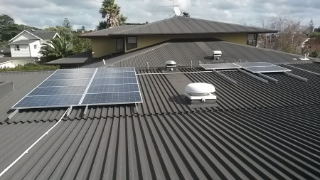 Solar installation in progress