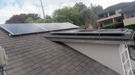 5kW Mico inverter solar panel install