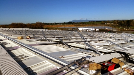 Mainfreight Solar Installation - racking