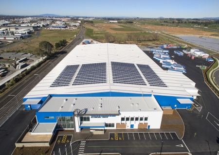 Mainfreight Solar Installation - Front view