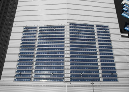 Mainfreight Solar Installation - Roof photo
