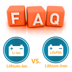 Solar Batteries - Lithium ion verses Lithium Iron FAQs