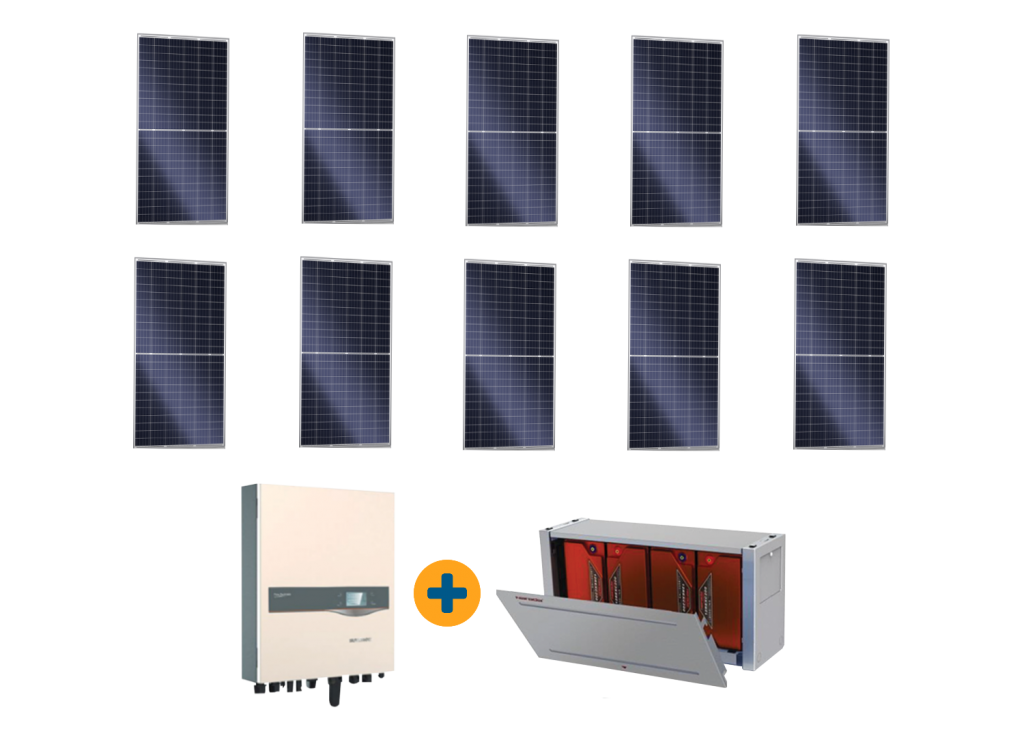 10 Panel Solar plus Batteries Special Offer