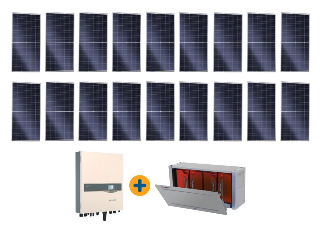 18 Panel Solar plus Batteries Special Offer