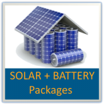 Solar plus battery packages