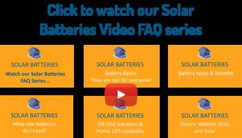 Solar Batteries Video FAQ series