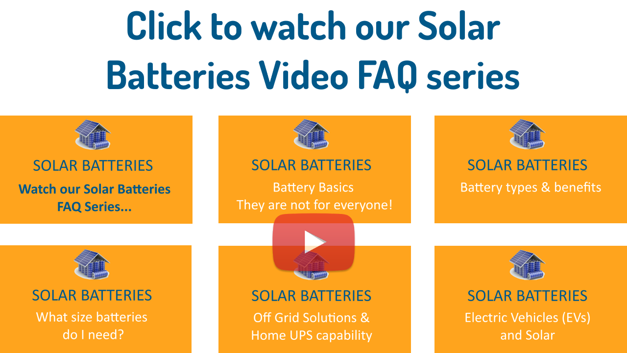 Solar Batteries Video FAQ series