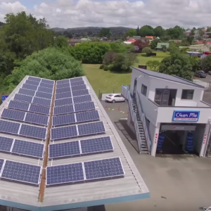 Commercial Solar - Clean Me installation