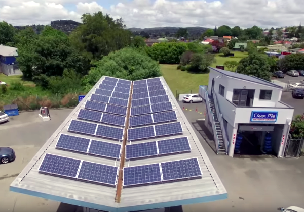 Commercial Solar - Clean Me Install