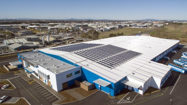 Mainfreight solar installation NZ